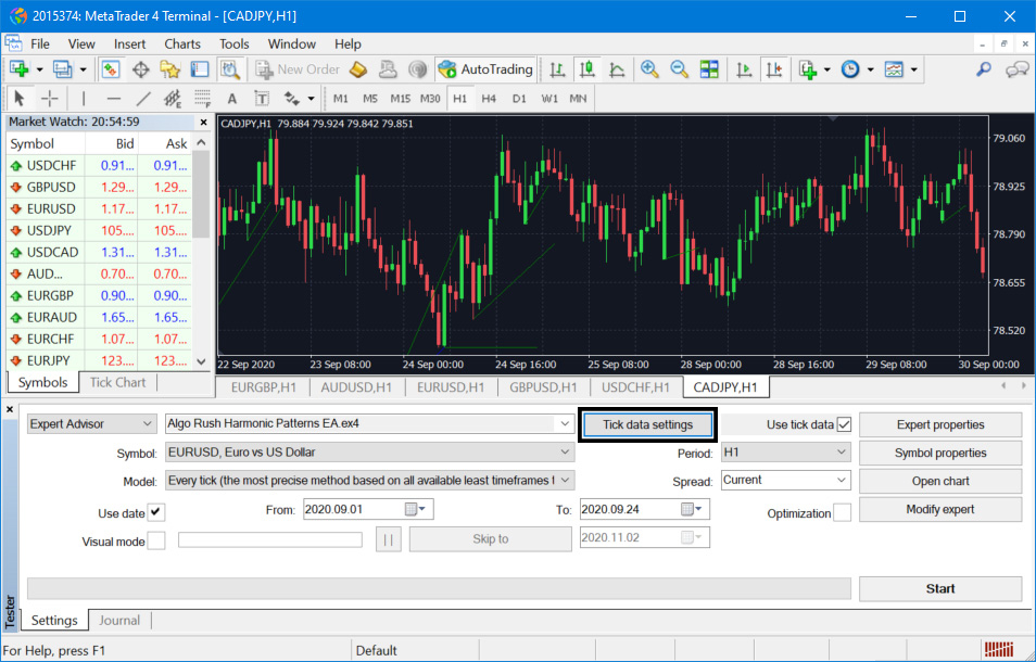 Importing High Quality Tick Data OHLC on MetaTrader 4